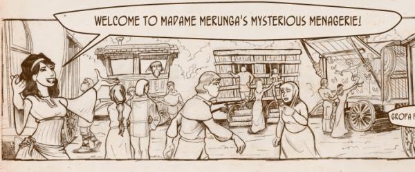 Merunga's Menagerie webcomic banner image