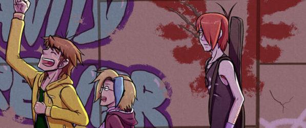 Crimson Wings webcomic banner image