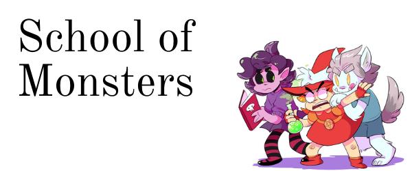 School of Monsters webcomic banner image
