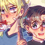 Boys Outta Luck! webcomic banner image